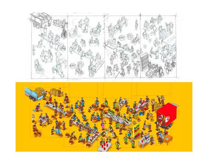 C1000 boterhamstrooisels schetsen