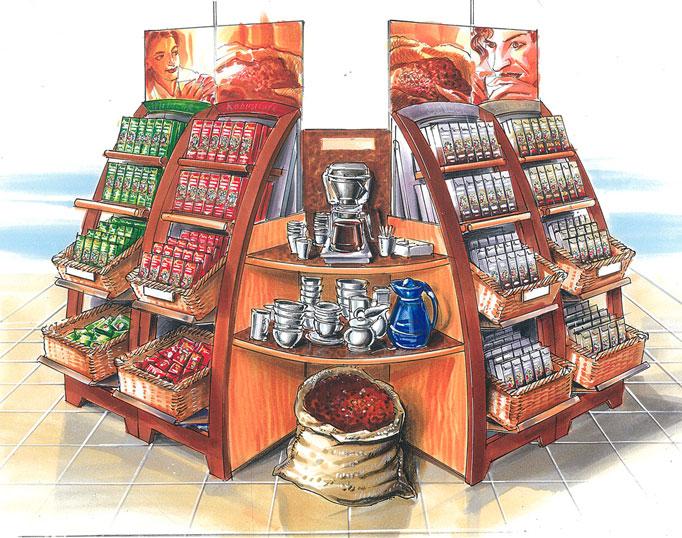 Schets Shop in shop