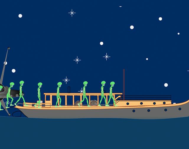 Aliens op woonboten >>
