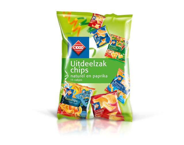 UItdeelzak chips